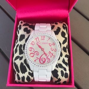 Betsey Johnson White Watch EUC